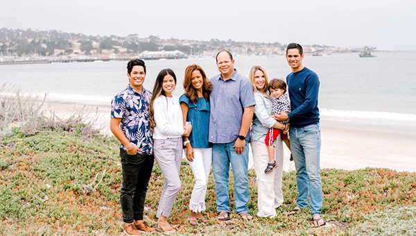 Big Valley Mortgage Loan Officer, Cindi Talyor posed with her family by the ocean.