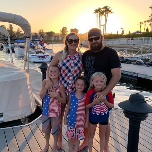 Big Valley Mortgage Loan Officer, Amy Angulo, with her family on a boat.